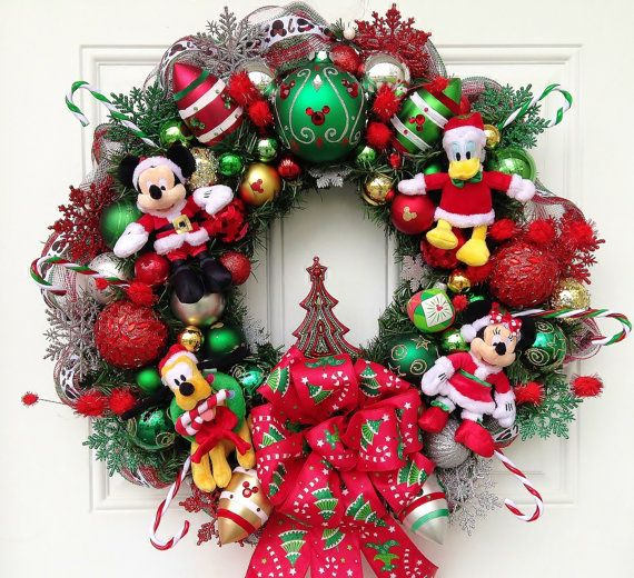 disney christmas wreath by sparkleforyourcastle on etsy 15900 disney pinterest christmas disney christmas and christmas wreaths