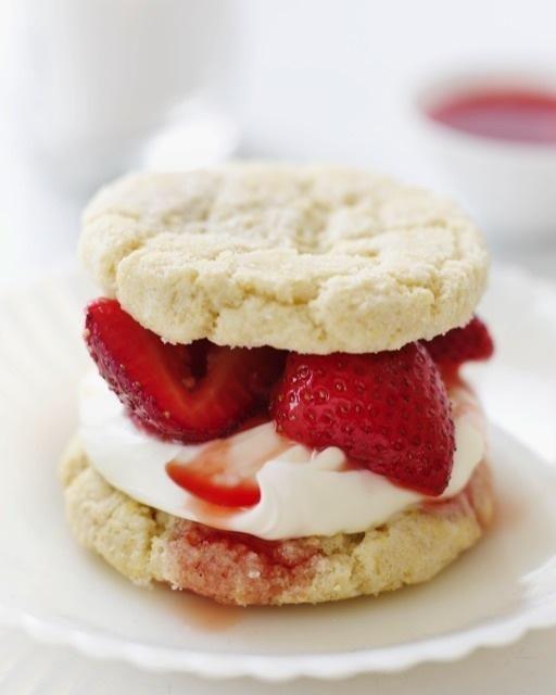 Sugar Cookie Strawberry Shortcake. Strawberries, sugar, heavy cream ...