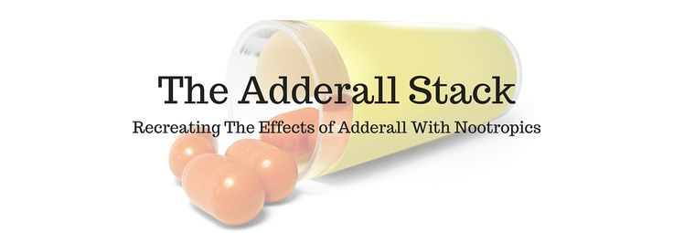 We always get asked what the best nootropic stack would be to replicate the benefits of Adderall. After a ton of research and experimentation, we've come up with an answer: The Adderall Stack! - http://nootropicszone.com/the-adderall-stack/
