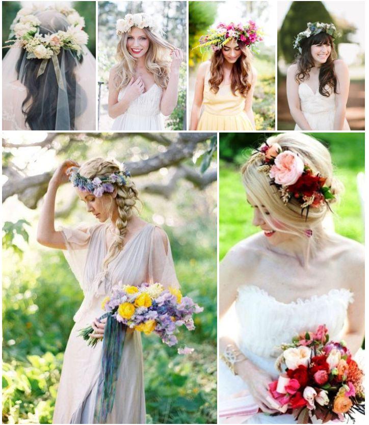 2014 Wedding Hairstyles Hair Ideas And Bridal Hair Trends: ЖИВИ ЦВЕТЯ В КОСАТА НА БУЛКАТА