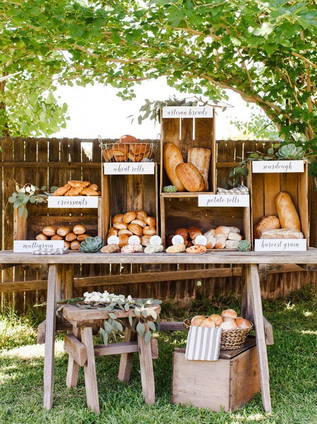 20 Farmer's Market Wedding Details: Specialty Food Stations | SouthBound Bride | http://www.southboundbride.com/farmers-market-wedding-details | Image credit: Ten22 Studio via Bridal Guide