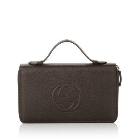 Gucci Kleinleder – Soho IT Cellarius Organizer Chocolate Brown – in braun – Kleinleder für Damen