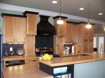 Black Trim On Kitchen Cabinets