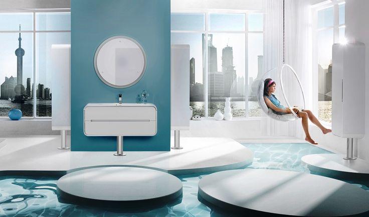 Хай тек – стиль высоких технологий.  Его главный принцип: высокая функциональность ванной комнаты при минимальном размещении аксессуаров и предметов мебели. Это означает, что в такой ванной каждый предмет может быть многофункциональным, что освободит больше пространства, добавит чистоты и ультрасовременное звучание дизайну.  Здесь будут уместны крутые душевые кабины с массажем или баней или душевые уголки с верхним душем с подсветкой, радио, с плоскими поддонами, минималистичные смесители с…