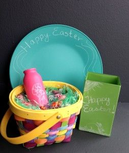 Chalkboard China makes a great #Easter basket, #centerpiece, or Easter #gift!