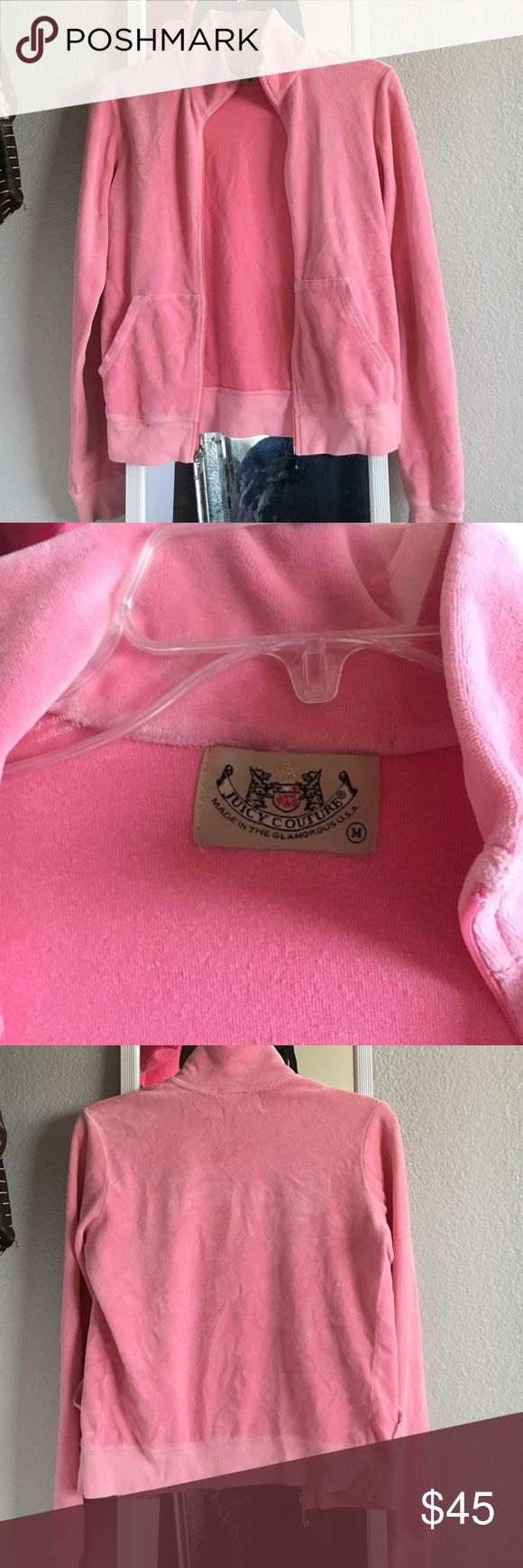 AUTHENTIC juicy couture velour jacket haven't worn this in years, has basically sat folded in my dressor (hence the wrinkles) Juicy Couture Jackets & Coats