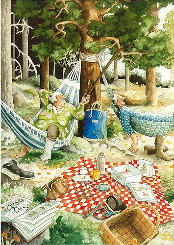 Inge Löök Grannies .....Delightful!  Take a look at these sista' adventures....zesty til the last breath.  Love it!