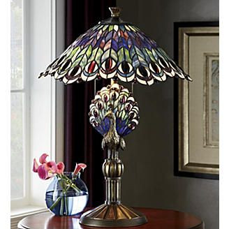 214 best tiffany type lamps images on pinterest chandeliers glass birds of a feather stained glass table lamp from seventh avenue aloadofball Gallery