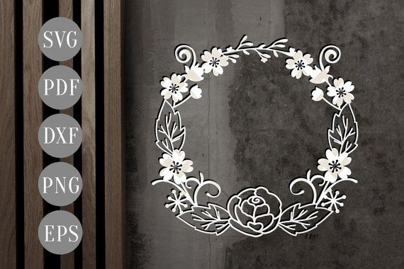 wreath template free svg # 10