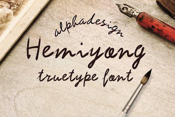 Hemiyong TrueType Font by alphadesign on @creativemarket
