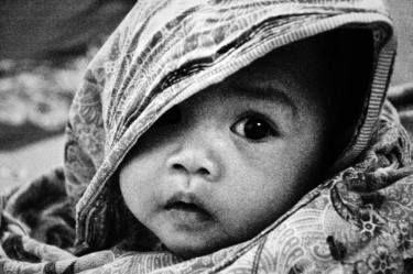 "Saatchi Art Artist Radek Gibran; Photography, ""baby face Katura"" #art #photo #portrait #black&white #expression #face #baby #kid #eye #pure #digital #b&w #child #look #see #plain"