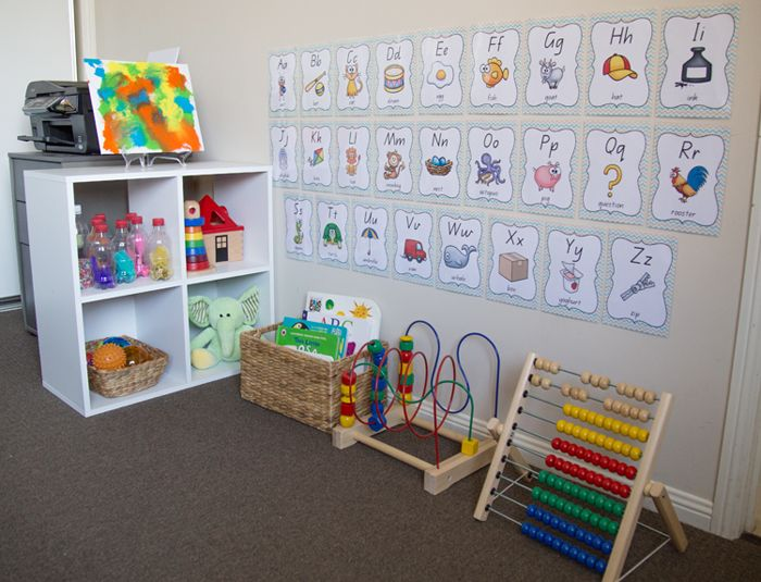 Lilly's learning corner with sensory play experiences for a 9 month old baby.