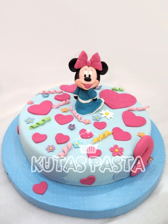 Minnie Mouse Pasta - Minnie blue dress cake