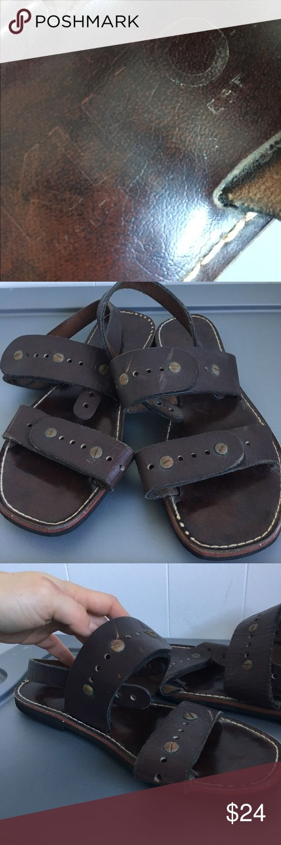 Vintage Kino leather Jesus Sandals Trashed Sold as is❗️no returns Kino Shoes Sandals & Flip-Flops