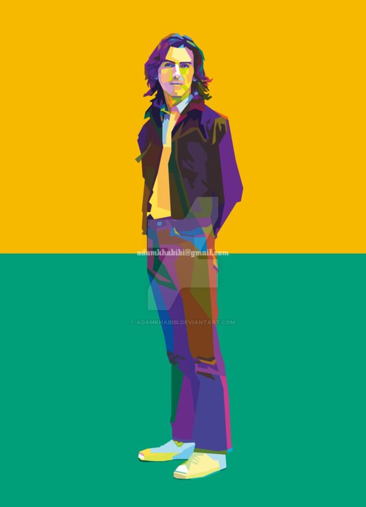 George Harrison in Wedha's Pop Art Portrait (WPAP) by AdamKhabibi