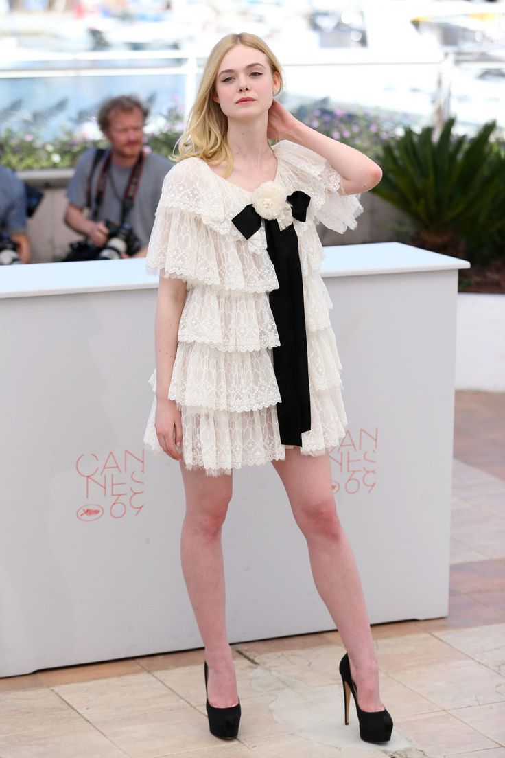 """""""Elle Fanning attends """"The Neon Demon"""" Photocall during the 69th annual Cannes Film Festival at the Palais des Festivals on May 20, 2016 in Cannes, France. """""""