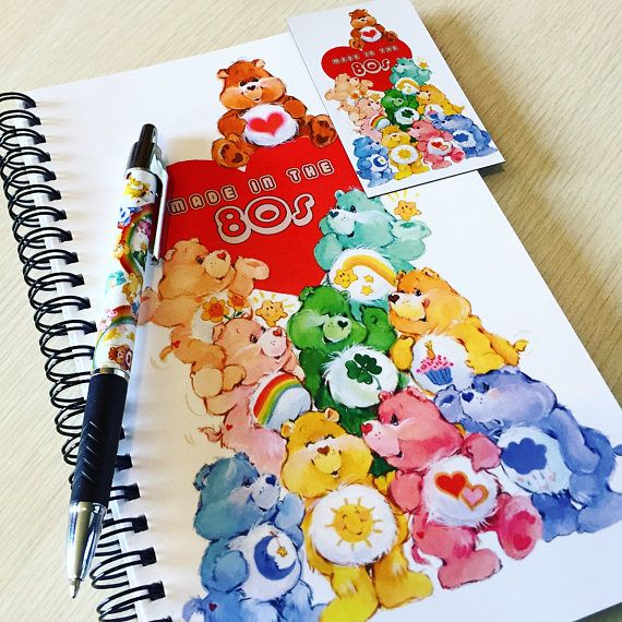 Care Bears 'Made in the 80s' Stationary Set