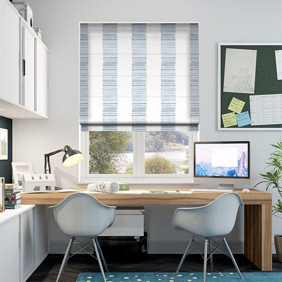 Die besten 25+ Blue roman blinds Ideen auf Pinterest Blaue - moderne raffrollos wohnzimmer