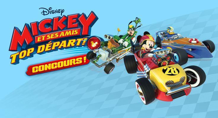 Regardez la nouvelle émissionMickey et ses amis : top départ!àDisney Junior sur La chaîne Disneyet courez la chance de remporter un panier-cadeau rempli d'articles à l'effigie de Mickey et ses amis.Parmi les cadeaux, vous trouverez: