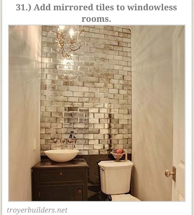 Mirrored tiles for small spaces