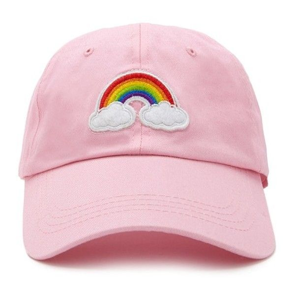 c3a76f48254 Forever21 Rainbow Patch Graphic Cap (18 BGN) ❤ liked on Polyvore featuring  accessories