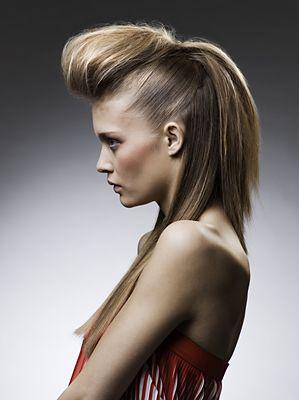 Образ «Объемная челка» (волосы распущены)