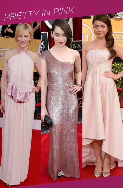 SAG Awards Red Carpet Trends: Pretty in Pink