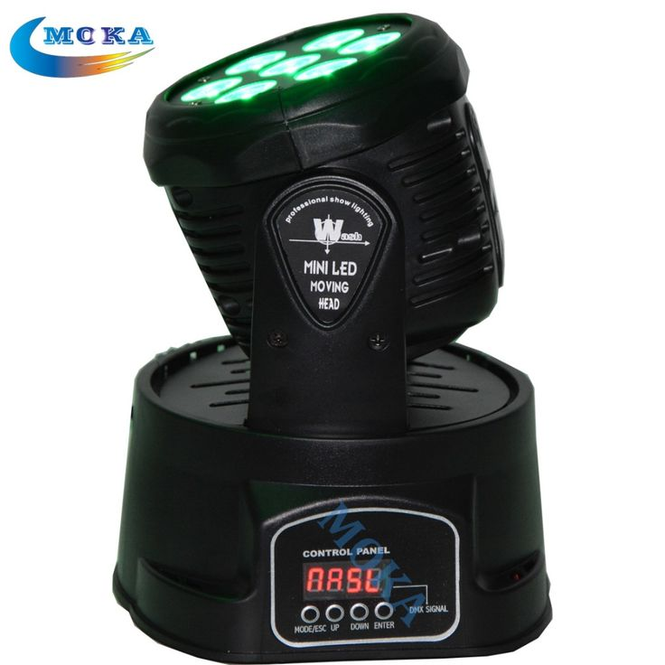 186.00$  Buy now - http://alitpk.worldwells.pw/go.php?t=32437648611 - Cheap price 7x10W LED Moving Head Wash Light  RGBW 4In1 Cree Full Color DMX512 stage DJ lighting 186.00$