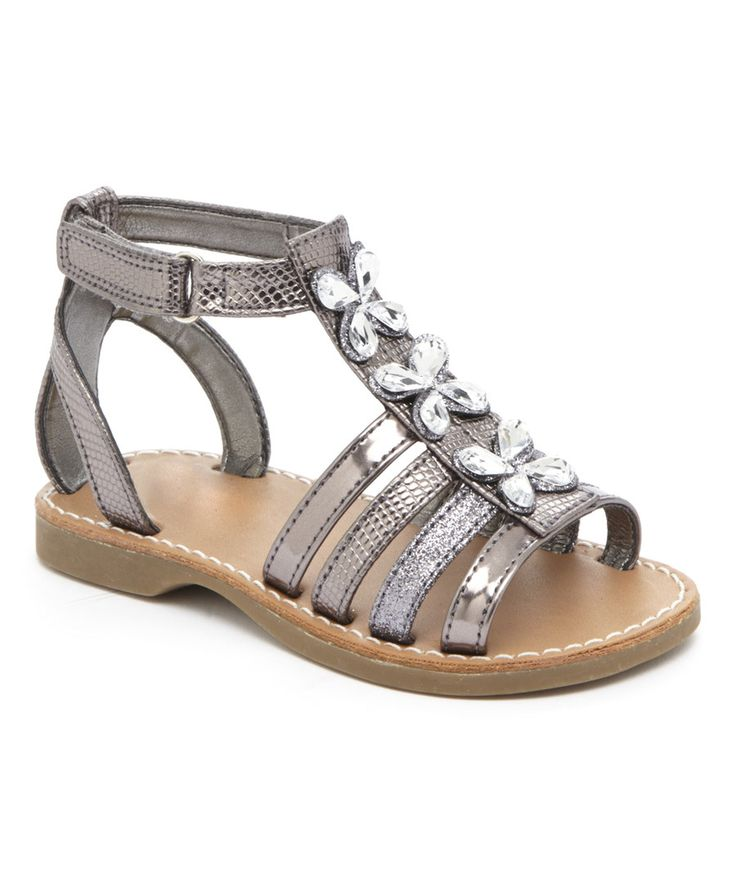 Look at this Pewter Metallic India Sandal on #zulily today!