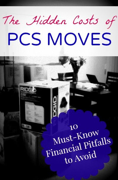 Must know info for military spouses and families! Avoid the financial pitfalls of PCS moves.