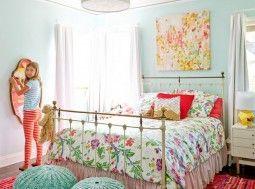 aqua walls tween girls bedroom