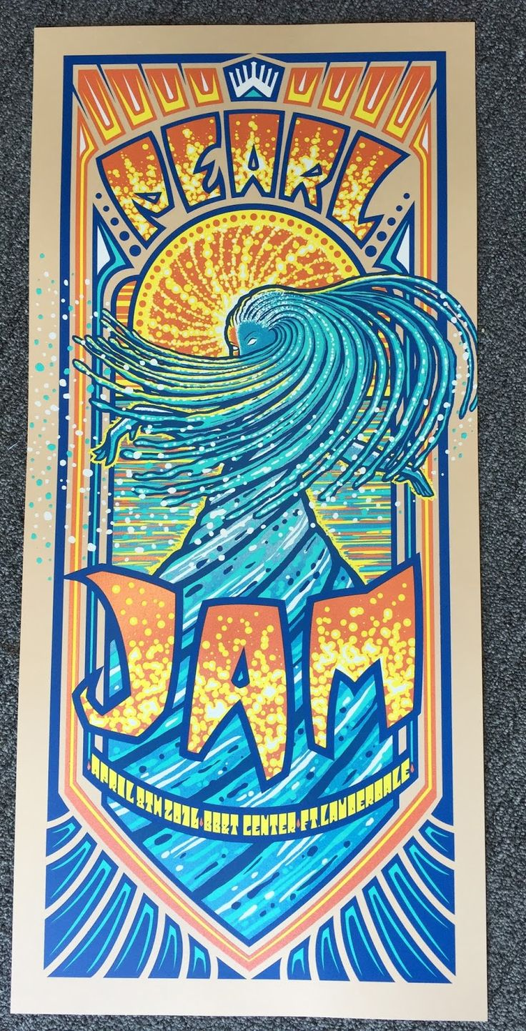 Pearl Jam kickoff their 18 date spring tour tonight in Ft Lauderdale, Florida. Brad Klausen did the poster and she is a beauty.