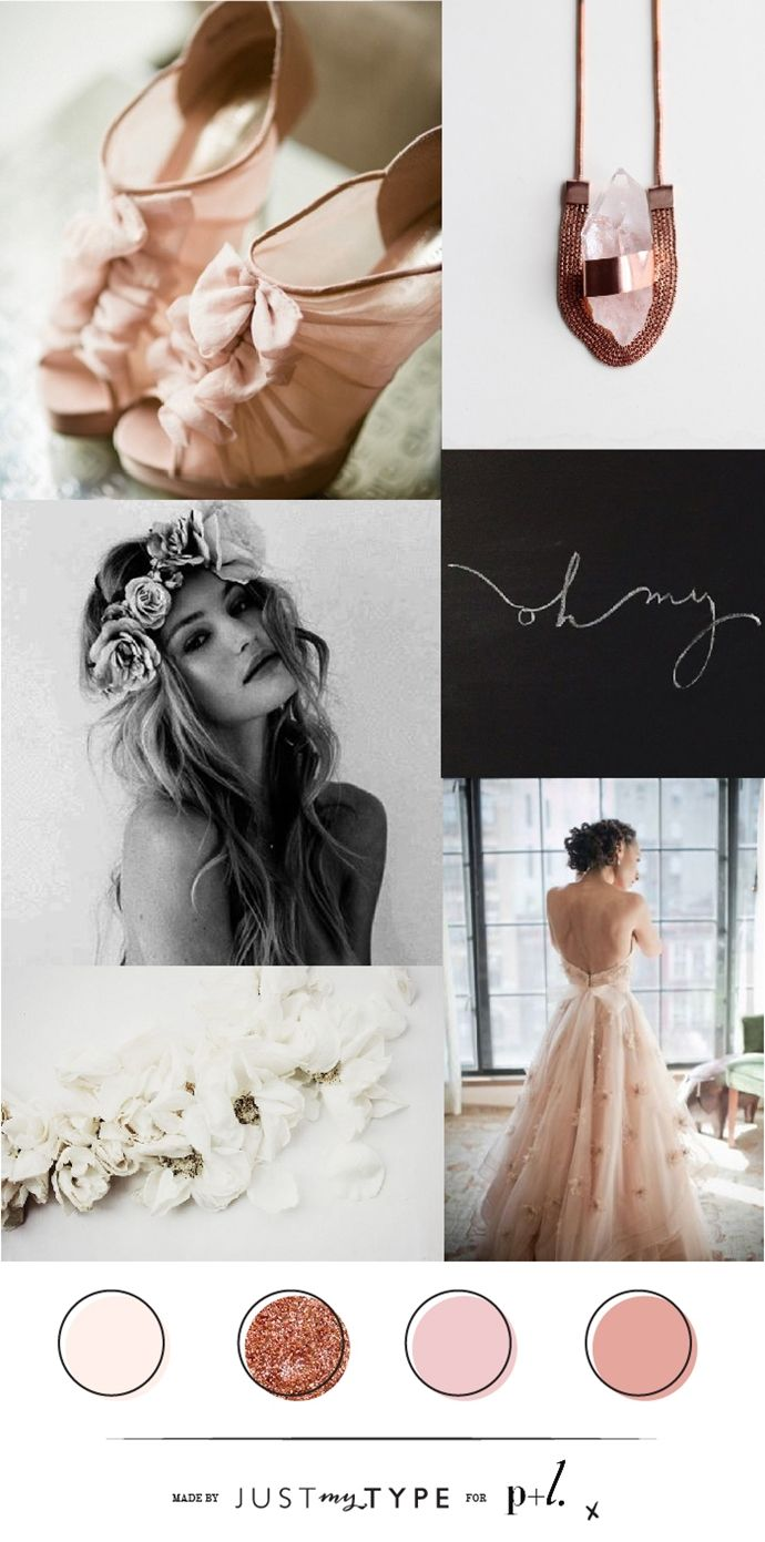 Mood Board // Blush & Bronze Bridesmaids