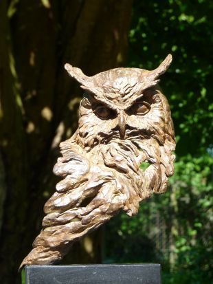 Sophus-wise is a bronze statue of a eagle owl. | bronze statues and garden statues …  – Beeld