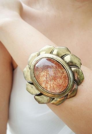 vintage style flower bangle