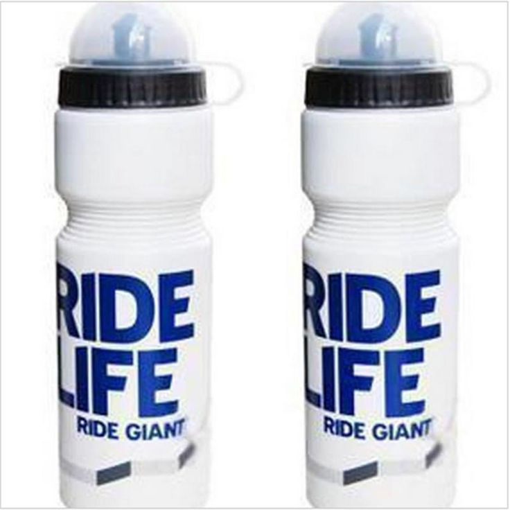 New water bottles hot sale with lid sports bottle active Mountain biking white and blue bicycle bottle free shipping