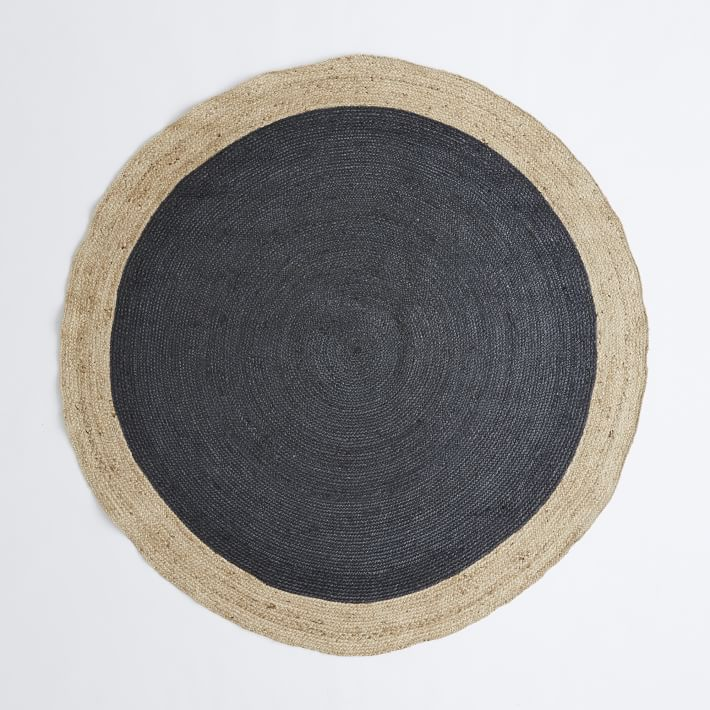 Perfect Round Black And Beige Rug