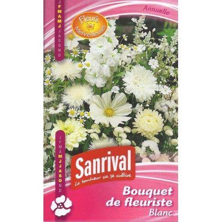 Mélange de graines de fleurs blanches