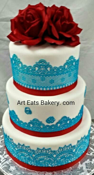 17 Best images about Edible lace for wedding and birthday cake designs on Pinterest Lace ...