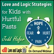 Brand new! Love and Logic speaker and adoptive parent Jedd Hafer tackles the extreme behavior challenges caused by the effects of trauma. Perfect for foster/adoptive parents and professionals who deal with trauma & attachment. Watch from your computer.