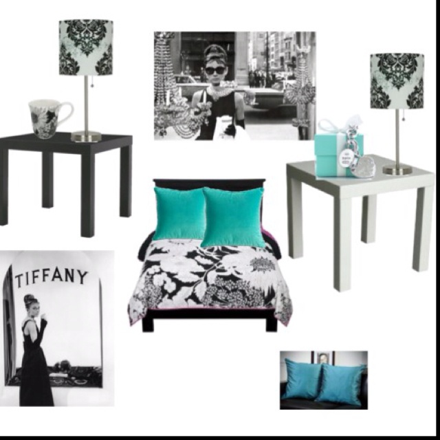 my bedroom is already blackwhiteturquoise and has marilyn monroe i like