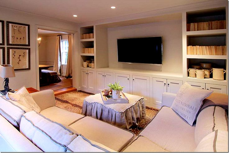 Simple Living Room With Tv