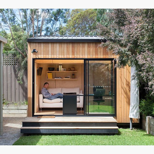 25 best ideas about modern shed on pinterest garden for Building a home office in backyard