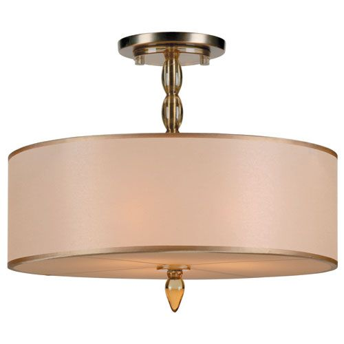 Exceptional Crystorama Lighting Group Luxo Antique Brass Three Light Semi Flush Mount Home Design Ideas