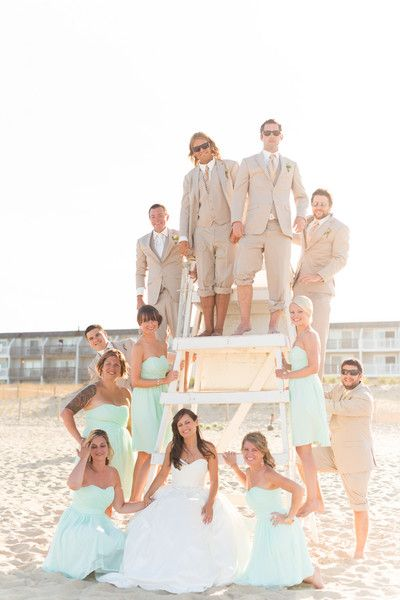 A must have photo opp for a #beach wedding! {Kirsten Smith Photography}