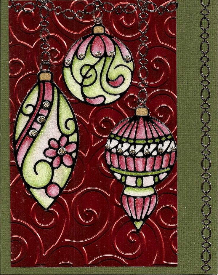 She loved stained glass. This is a handmade creative Greeting Card that looks like beautiful stained glass.  {Elizabeth Craft Design}