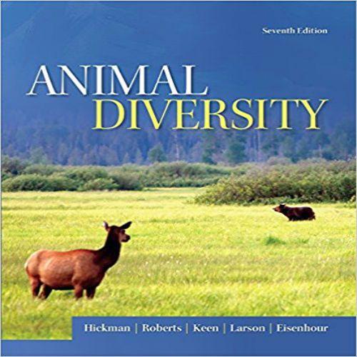 Animal Diversity 7th Edition By Hickman Roberts Keen Larson