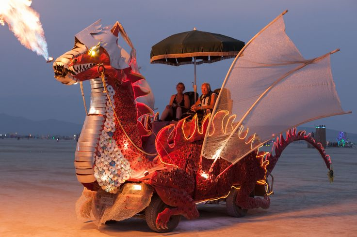 Spike, the Red Dragon - Fest300 - Burning Man 2014 Art Car Yearbook