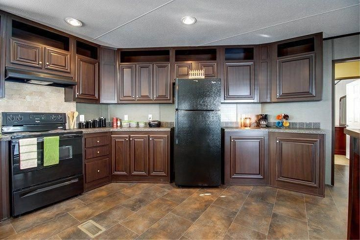 Single wide mobile home kitchen that's spacious, modern # ...