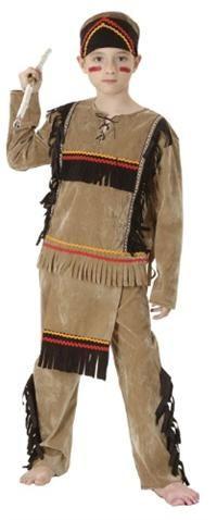 Kızılderili Kostümü, Erkek Çocuk 7-9 Y Parti Kostümleri - Erkek Çocuk Parti Kostümleri Masal Kahramanı Kostümü: Kostümlü Parti, Kıyafet Balosu, Okul Gösterileri, Temalı Doğum Günü Partileri için ideal kostüm.  Kostüm bandana, üst, pantolon ve bele takılan kumaş oluşur. Eldeki mızrak dahil değildir!